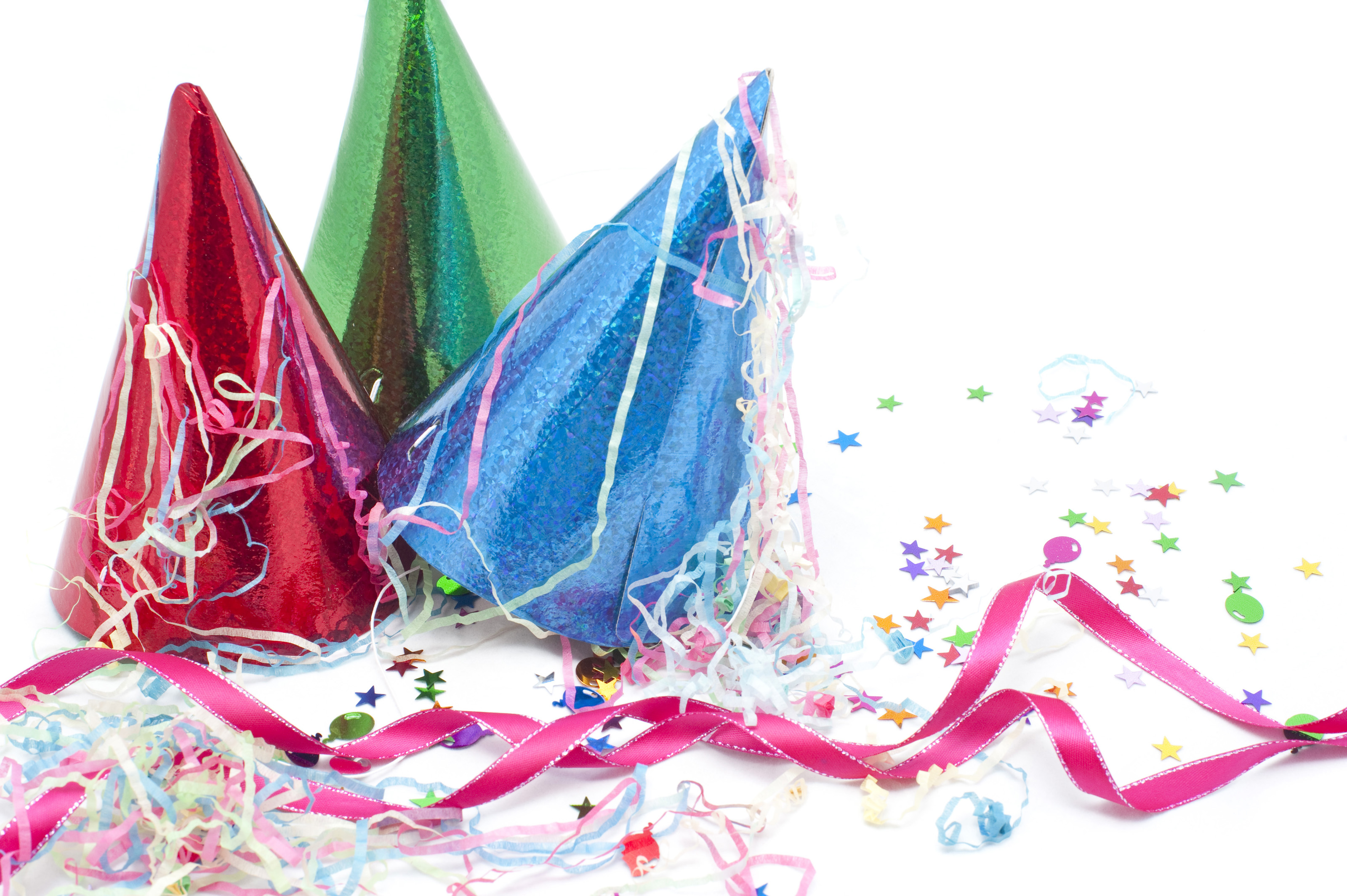 still life of party hats streamers and confetti � sals